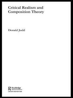Critical Realism and Composition Theory by Donald Judd