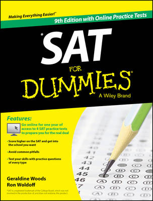 Sat for Dummies, 9th Edition with Online Practice by Geraldine Woods