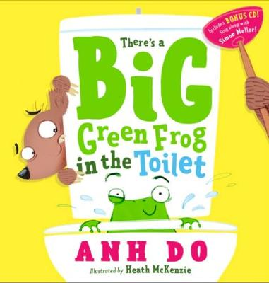 There's a Big Green Frog in the Toilet + CD book