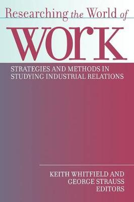 Researching the World of Work book