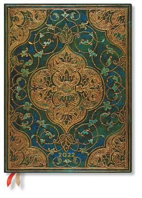 2022 Turquoise Chronicles, Ultra (Wk at a Time) Verso Diary: Hardcover, Verso Layout, 100 gsm, elastic closure book