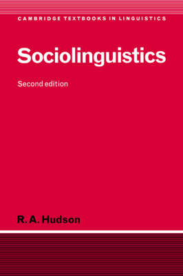 Sociolinguistics by R. A. Hudson