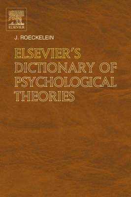 Elsevier's Dictionary of Psychological Theories book
