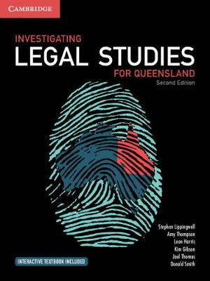 Investigating Legal Studies for Queensland by Stephen Lippingwell