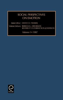 Social Perspectives on Emotion by David D. Franks