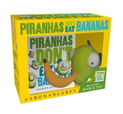 Piranhas Don't Eat Bananas Mini Book + Plush by Blabey,Aaron