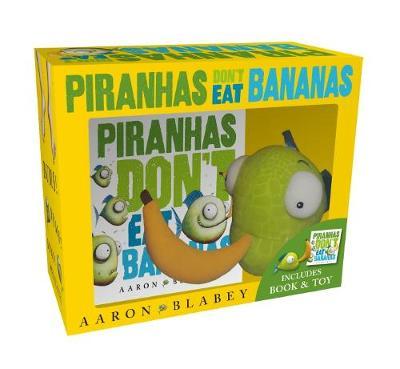 Piranhas Don't Eat Bananas Mini Book + Plush book