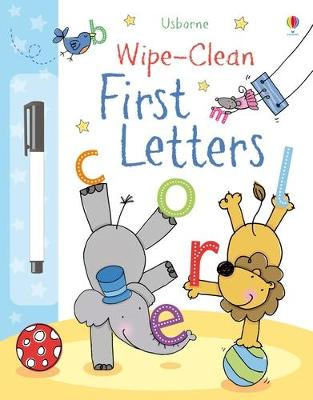 Wipe-Clean First Letters book