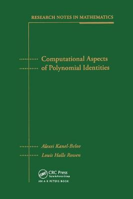 Computational Aspects of Polynomial Identities book