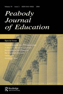 Commemorating the 50th Anniversary of Brown V. Board of Education by Kenneth K. Wong