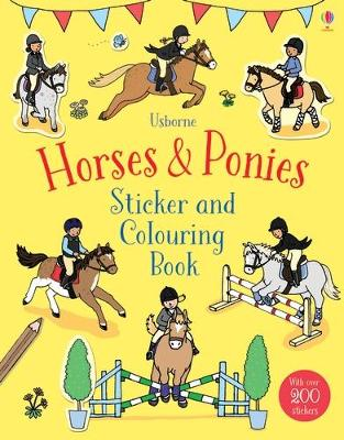 Horses & Ponies Sticker and Colouring Book by Fiona Patchett