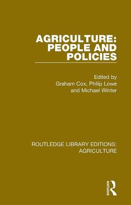 Agriculture: People and Policies book