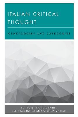 Italian Critical Thought by Elettra Stimilli