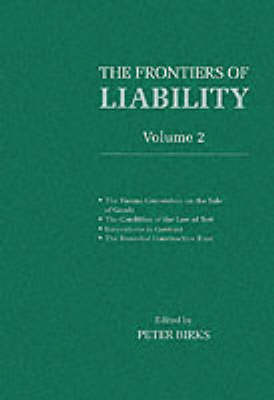 Frontiers of Liability: Volume 2 book