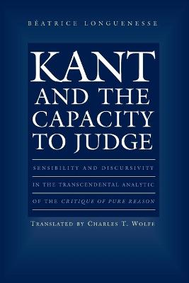 Kant and the Capacity to Judge book