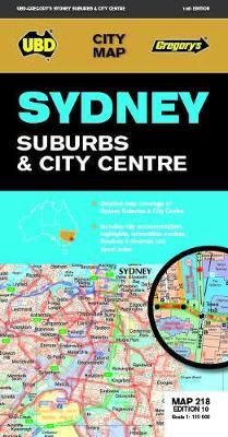 Sydney Suburbs & City Centre Map 218 10th ed book