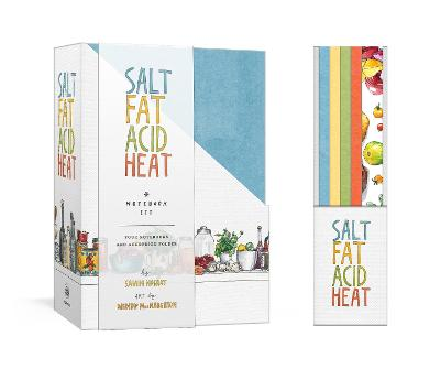 Salt, Fat, Acid, Heat Four-Notebook Set by Samin Nosrat