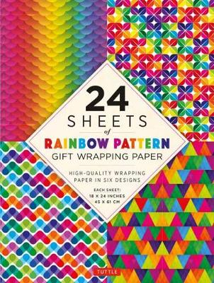 Rainbow Patterns Gift Wrapping Paper - 24 sheets of: High-Quality 18 x 24