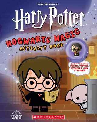 Harry Potter: Hogwarts Magic! Book with Pencil Topper by Terrance Crawford
