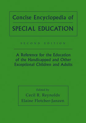 Concise Encyclopedia of Special Education by Cecil R. Reynolds