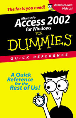 Access 2002 For Dummies: Quick Reference by Alison Barrows