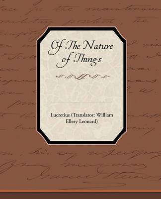 Of the Nature of Things by Lucretius
