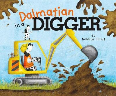 Dalmatian in a Digger by ,Rebecca Elliott