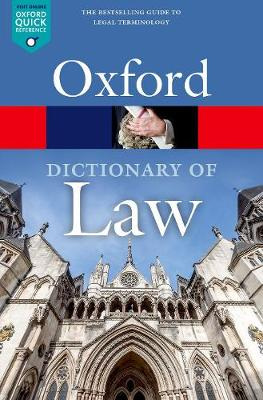 A Dictionary of Law by Jonathan Law
