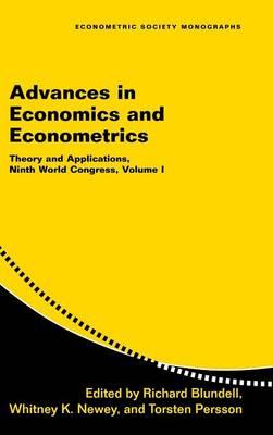 Advances in Economics and Econometrics: Volume 1 book