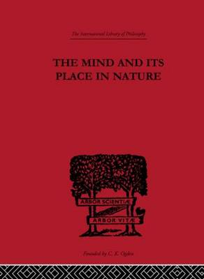 The Mind and its Place in Nature by C. D. Broad