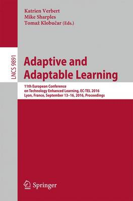 Adaptive and Adaptable Learning by Katrien Verbert