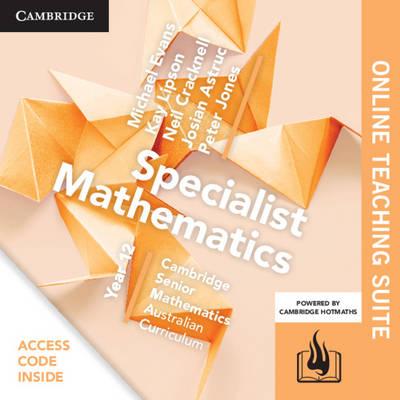 CSM AC Specialist Mathematics Year 12 Online Teaching Suite (Card) by Michael Evans