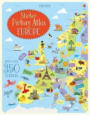 Sticker Picture Atlas of Europe by Jonathan Melmoth