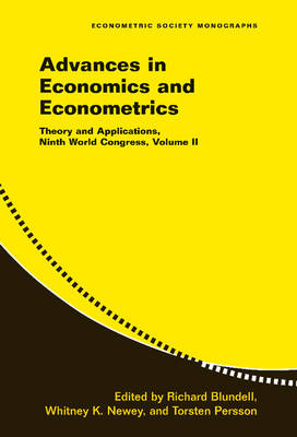 Advances in Economics and Econometrics: Volume 2 by Richard Blundell