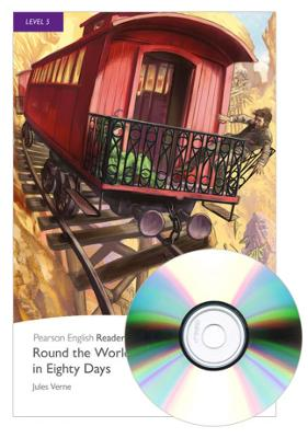 Level 5: Round the World in Eighty Days Book and MP3 Pack by Jules Verne