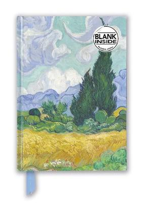 Vincent van Gogh: Wheat Field with Cypresses (Foiled Blank Journal) by Flame Tree Studio