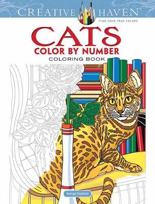 Creative Haven Cats Color by Number Coloring Book by George Toufexis