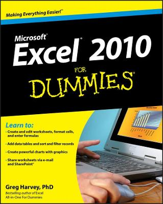 Excel 2010 For Dummies by Greg Harvey