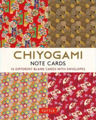 Chiyogami Japanese, 16 Note Cards: 16 Different Blank Cards with 17 Patterned Envelopes book