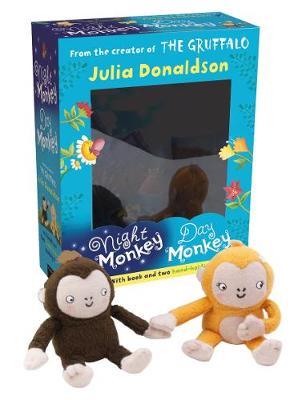 Night Monkey Day Monkey Books & Plush Set by Julia Donaldson