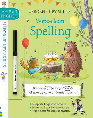 Wipe-Clean Spelling 8-9 book