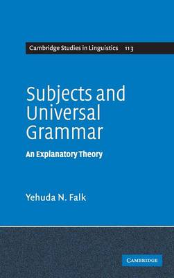 Subjects and Universal Grammar book