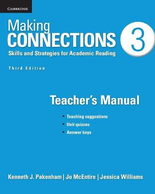 Making Connections Level 3 Teacher's Manual by Kenneth J. Pakenham