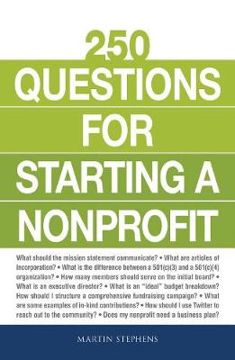250 Questions for Starting a Nonprofit by Martin