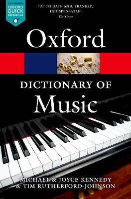 The Oxford Dictionary of Music by Tim Rutherford-Johnson