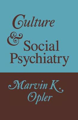 Culture and Social Psychiatry book