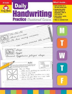 Daily Handwriting Traditional Cursive by Evan-Moor Educational Publishers