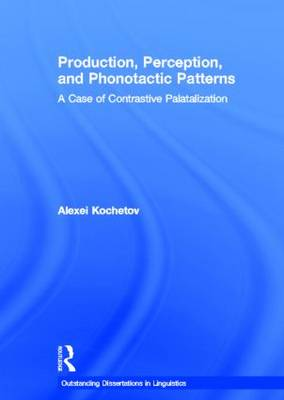 Production, Perception, and Phonotactic Patterns book