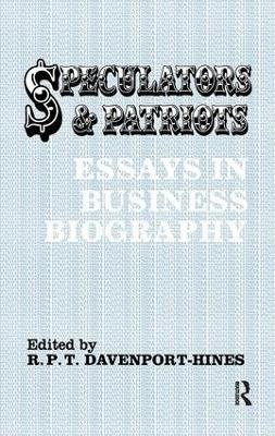 Speculators and Patriots book
