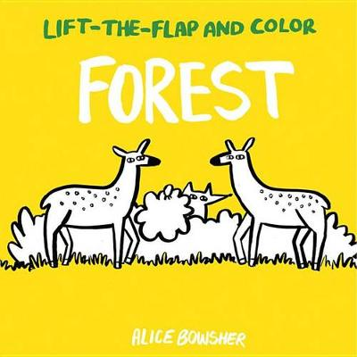 Lift-The-Flap and Color: Forest by Alice Bowsher